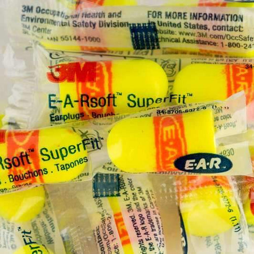 Box - 3M™ EARsoft™ SuperFit™ Earplugs (200 Pairs Corded / Uncorded)