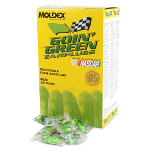 6620 Moldex® Goin' Green® Uncorded Disposable Earplugs (200 Pairs Uncorded)