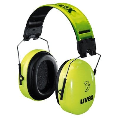 UVEX-3V Hi-Vis Folding Earmuffs for Work