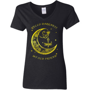 Butterfly And Moon - Hello Darkness My Old Friend Shirt