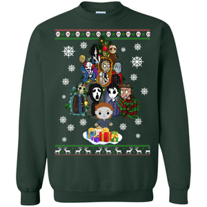 Horror Movie Christmas Tree Ugly Sweater