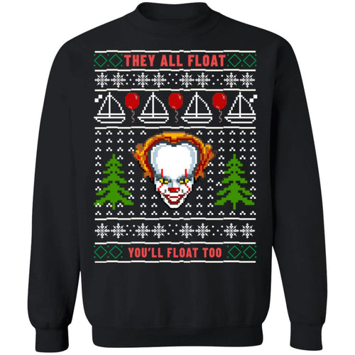 Pennywise They All Float You'll Float Too Christmas Sweater