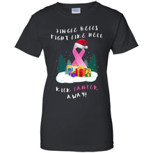 Load image into Gallery viewer, Jingle Bells Fight Like Hell Kick Cancer Away Shirt