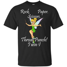 Load image into Gallery viewer, Angel - Rock - Paper - Scissors - Throat Punch I Win Shirt
