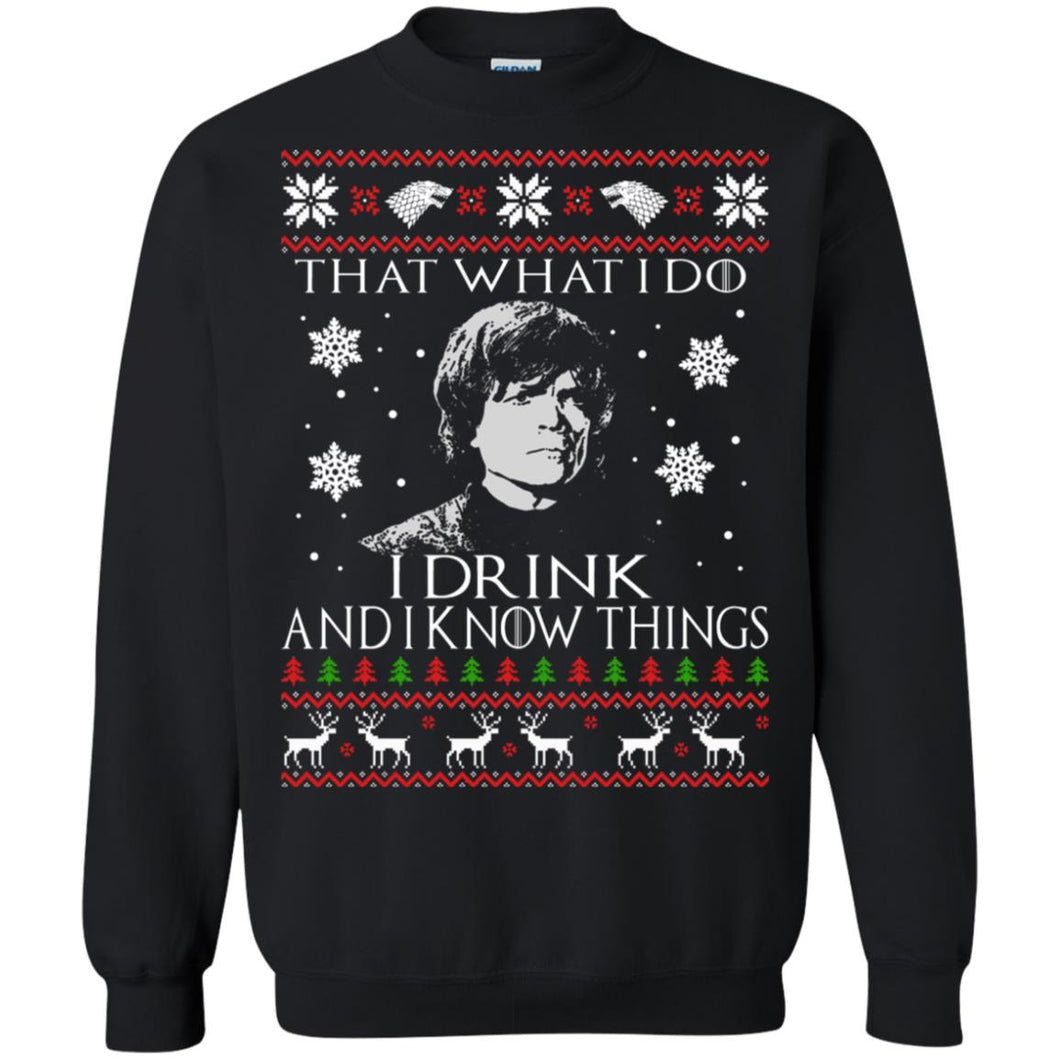 Game Of Thrones - I Drink And I Know Things Christmas Sweater