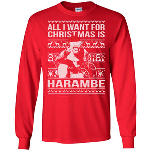 All I Want For Christmas Is Harambe Sweater