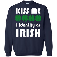 Load image into Gallery viewer, Kiss Me - I Identify As Irish Shirt