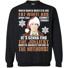 Load image into Gallery viewer, Clark Griswold - When Santa Squeezes His Fat White Christmas Shirt