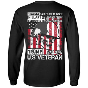 Trump Call Me US Veteran Shirt