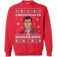 Load image into Gallery viewer, Christmas In The Danger Zone Christmas Sweater