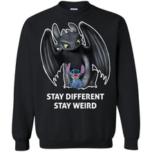 Load image into Gallery viewer, Toothless And Stitch - Stay Different Stay Weird Shirt