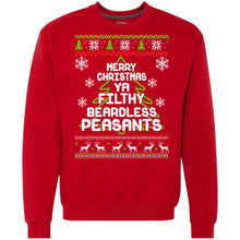 Load image into Gallery viewer, Merry Christmas Ya Filthy Beardless Peasants Christmas Sweater