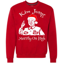 Load image into Gallery viewer, Kim Jong Merrily On High Christmas Sweater