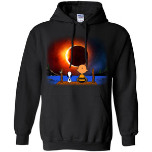 Snoopy And Charlie Brown Solar Eclipse Shirt