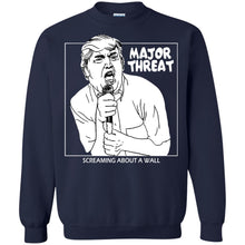 Load image into Gallery viewer, Trump - Major Threat Screaming About A Wall Shirt