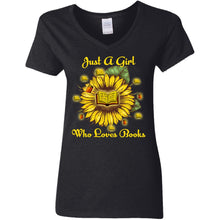 Load image into Gallery viewer, Sunflower - Just A Girl Who Loves Books Shirt