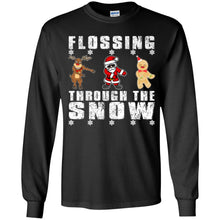 Load image into Gallery viewer, Santa Reindeer Gingerbread Flossing Through The Snow Shirt