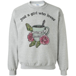 Just A Girl Who Loves Coffee And Cannabis Shirt