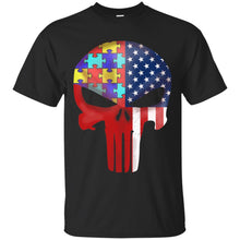Load image into Gallery viewer, Autism American Skull Shirt