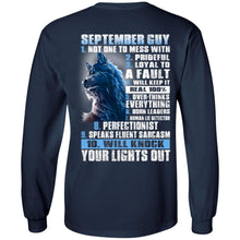 Load image into Gallery viewer, 10 Things For September Guy - Not One To Mess With - Prideful - Loyal To A Fault Shirt