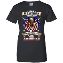 Load image into Gallery viewer, I Am A US Veteran I Believed In God Family And Country Shirt