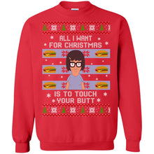 Load image into Gallery viewer, All I Want For Christmas Is To Touch Your Butt Sweater