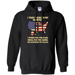 I Take Pride In My Country I Stand For The Flag Shirt