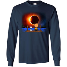Load image into Gallery viewer, Snoopy And Charlie Brown Solar Eclipse Shirt