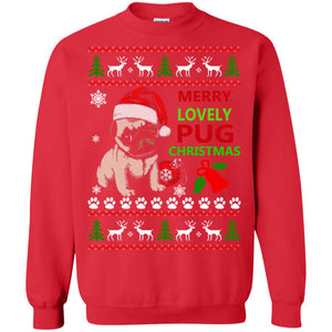 Merry Lovely Pug Christmas Ugly Sweater