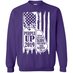 Purple Up 2019 - Honor Military Kids Because Their Serve Too Shirt