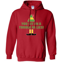 Load image into Gallery viewer, Buddy The Elf - You Sit On A Throne Of Lies  Shirt