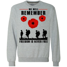 Load image into Gallery viewer, We Well Remember Freedom Is Never Free Shirt