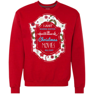I Just Wanna Watch Hallmark Christmas Movie All Day Shirt