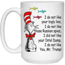 Load image into Gallery viewer, Dr Seuss - I Do Not Like Mr Trump Mugs