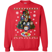 Load image into Gallery viewer, Horror Movie Christmas Tree Ugly Sweater