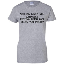 Load image into Gallery viewer, Smiling Gives You Wrinkles Shirt