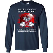 Load image into Gallery viewer, Red Sky At Night Sailors Delight Shirt