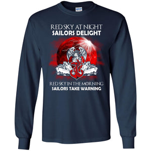 Red Sky At Night Sailors Delight Shirt