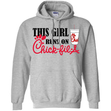 Load image into Gallery viewer, This Girl Runs On Chick-fil-a Shirt
