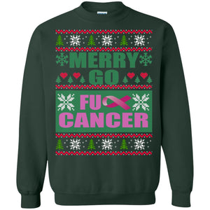 Merry-Go-Fu-- Cancer Christmas Sweater