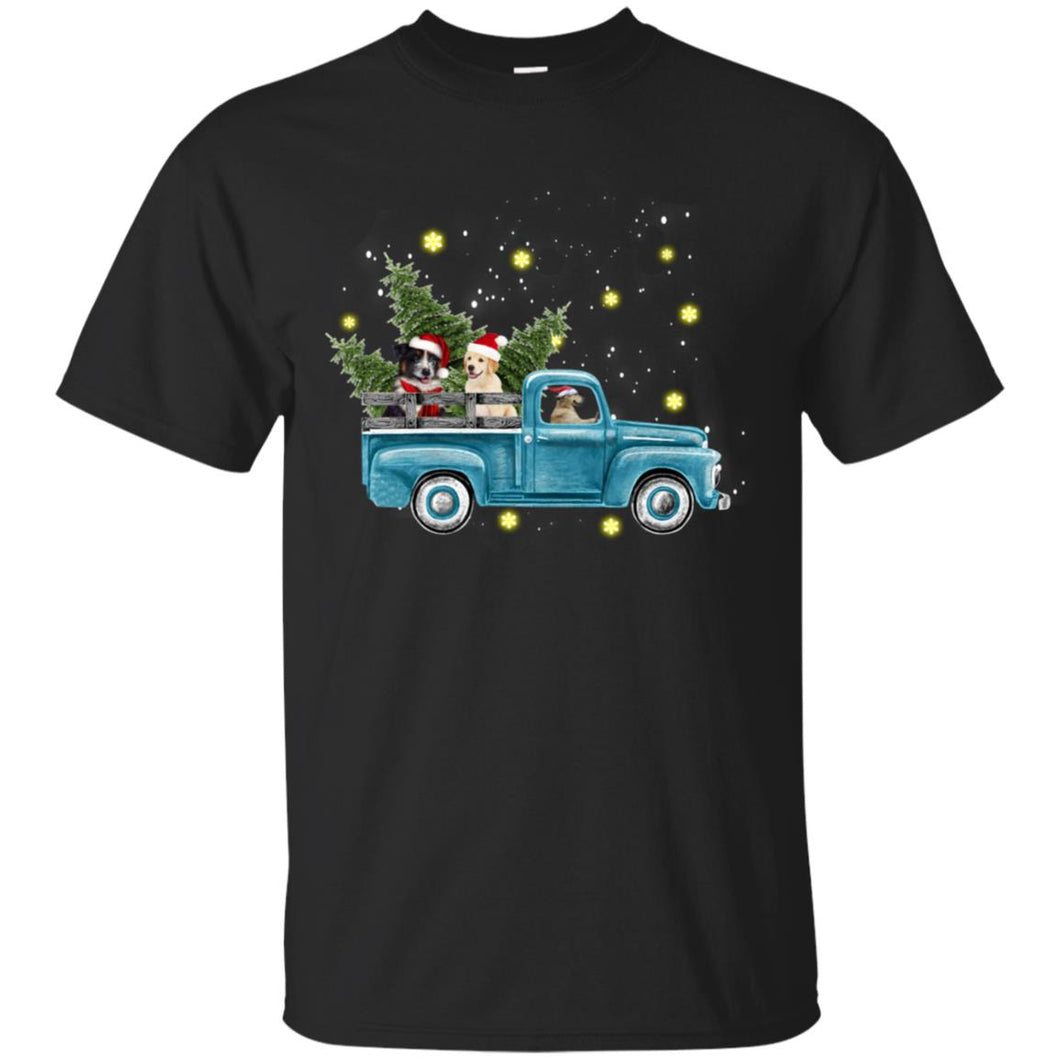 Dogs Driving Christmas Car Shirt