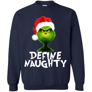 Grinch - Define Naughty Christmas Shirt