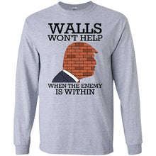 Load image into Gallery viewer, Trump - Walls Won't Help When The Enemy Is Within Shirt