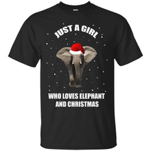 Load image into Gallery viewer, Just A Girl Who Love Elephant And Christmas Shirt