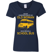 Load image into Gallery viewer, Never Underestimate An Old Man Who Drives A School Bus Shirt