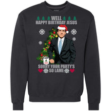 Load image into Gallery viewer, The Office Michael - Well Happy Birthday Jesus - Sorry Your Party So Lame Christmas Sweater