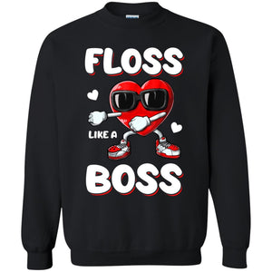 Valentine Heart - Floss Like A Boss Shirt