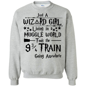 Just A Wizard Girl Living In A Muggle World Shirt