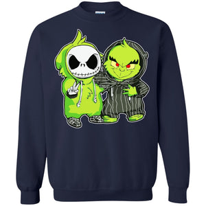 Baby Grinch And Baby Jack Skellington Shirt