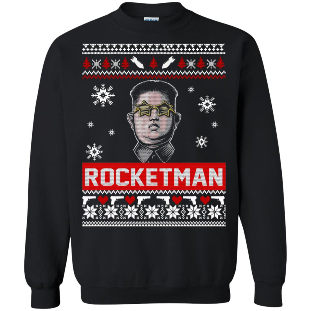 Kim Jong Un Rocketman Christmas Sweater